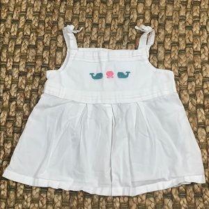 Janie & Jack • Embroidered Whale Dress Sz 18-24 Mo
